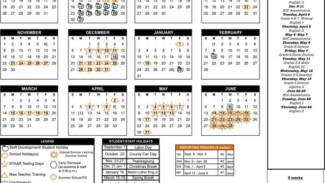 AISD revised 2020 2021 school calendar