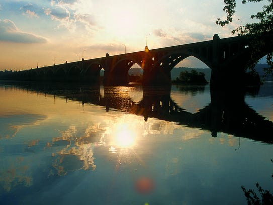 The picturesque Columbia-Wrightsville Bridge.