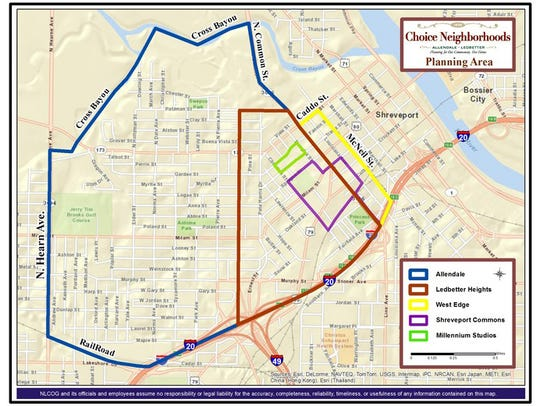 The Choice Neighborhood map.