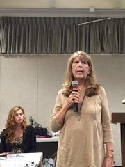 Lynne McClintock of Flemington speaks about being the