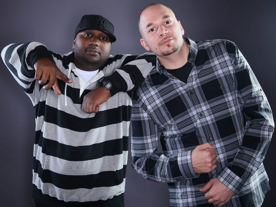 Publicity shot of 101.1 The Beat personalities Dolewite, right, and Scooby taken shortly before Scooby died in 2012