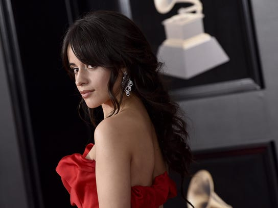 Camila Cabello arrives at the 60th annual Grammy Awards