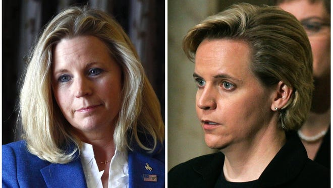 Sisters Liz Cheney, left, and Mary Cheney.