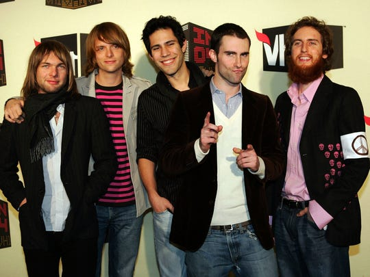 Maroon 5 arrives for the VH1 Big in '04 awards, in this Dec. 1, 2004, file photo, in Los Angeles.
