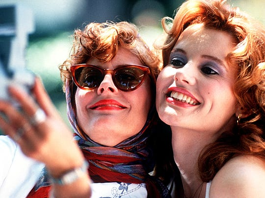 "Susan Sarandon (left) and Geena Davis star in ""Thelma and Louise."""