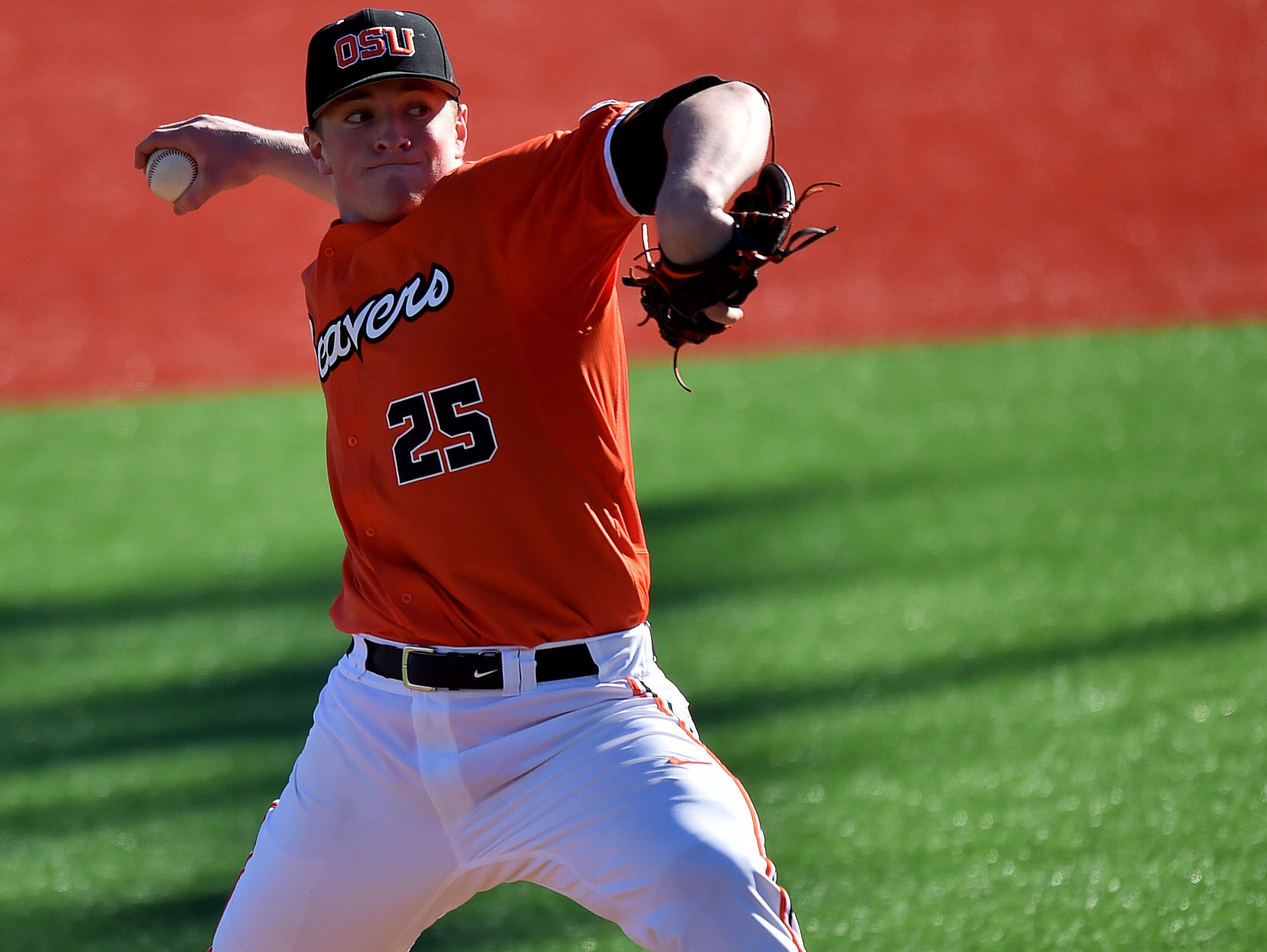 OSU right-hander Drew Rasmussen will be on the hill for Game 1 at California
