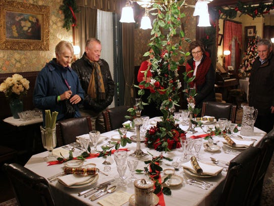 Guests tour a historic home in Cape May. Holiday tours