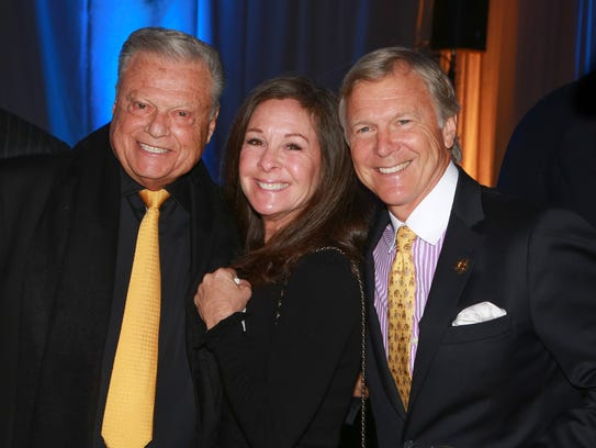 Harold Matzner with Stephanie and Michael Landis.