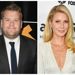 James Corden and Gwyneth Paltrow.