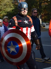 Kevin DiPlacido of Buena dressed as Captain American
