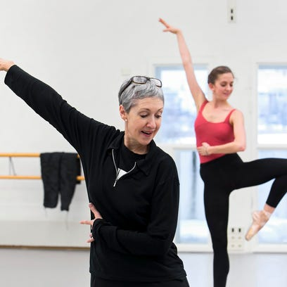"""Howell-born ballet dancer Kailey Kaba, right, played one of the sisters in the Finnish National Ballet's 2014 production of """"Beauty and the Beast,"""" which was choreographed by Javier Torres. Fellow dancer Anna Sariola is also pictured."""