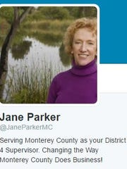 Jane Parker, District 4 county supervisor who is running for re-election, just launched her Twitter account.