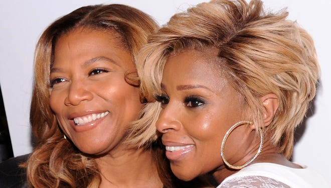 Queen Latifah and Mary J. Blige have been officially cast in 'The Wiz Live!' Here's the pair in 2014.