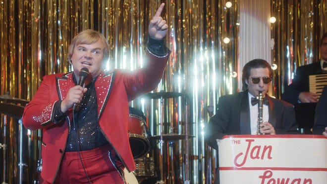 Jan (Jack Black, left) and Mickey (Jason Schwartzman) put on a show in true-life comedy 'The Polka King.'
