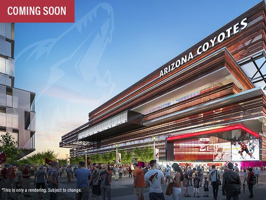 An artist rendering of the exterior of the Arizona