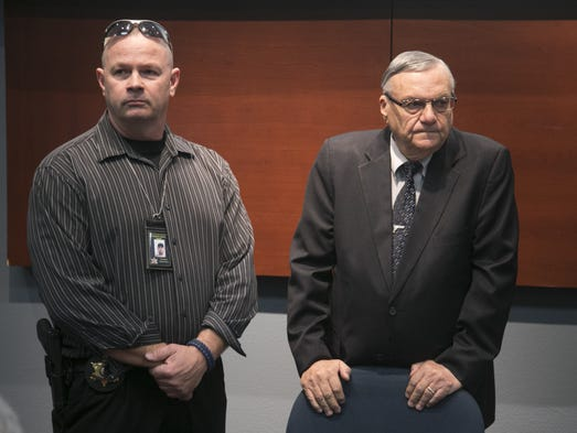 SherriffÕs Posse member Paul Adams (left) and Sheriff
