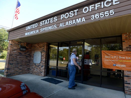 Magnolia Springs, Ala., has the only U.S. Postal Service water delivery route in the nation.
