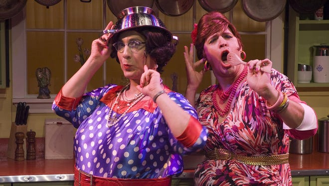 "Delphine and Carmela Calamari return to Auburn Public Theater in November in ""Cooking with the Calamari Sisters."""