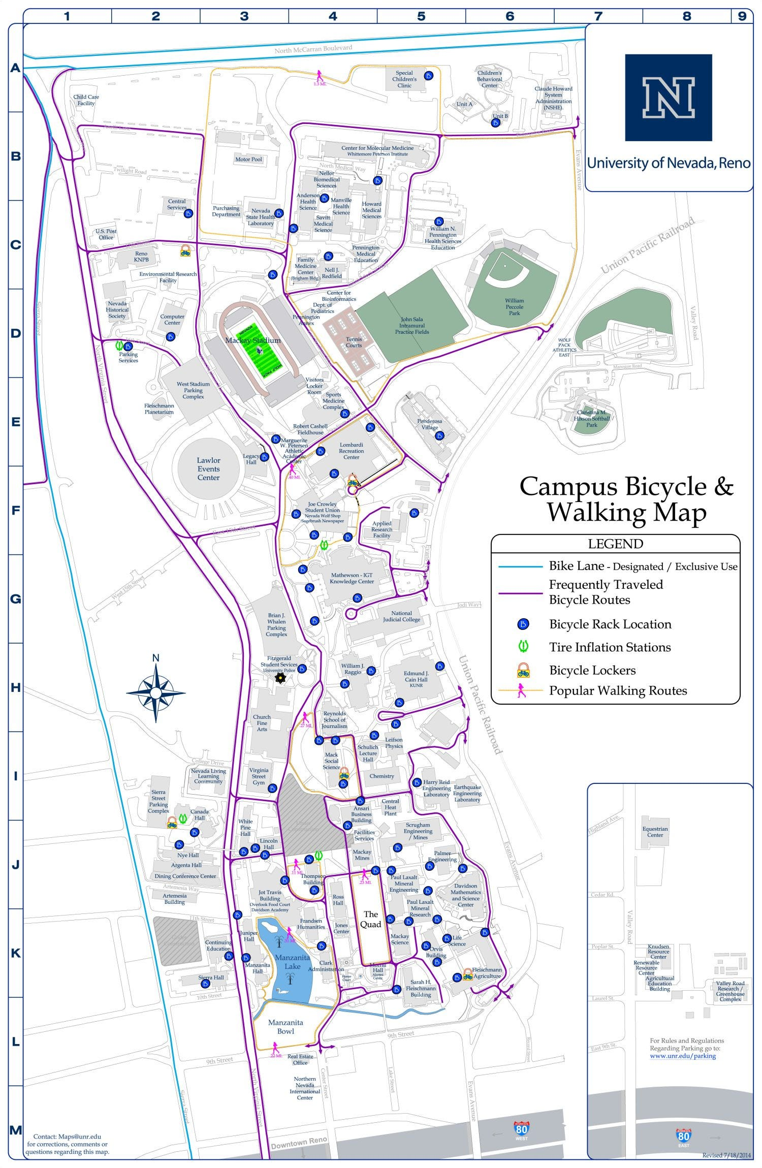 Group cites UNR with bronze distinction for being bike friendly