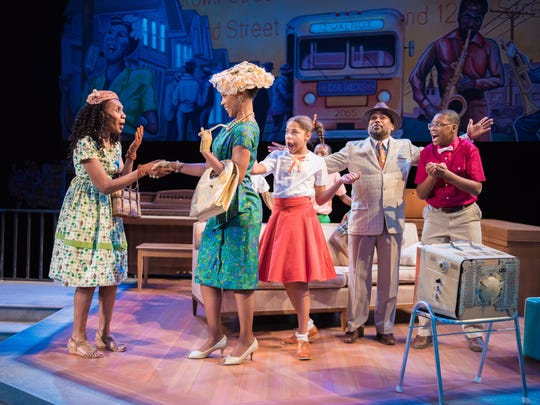 """A Milwaukee mom (Samantha Montgomery) gushes over the visiting Billie Holiday (Malkia Stampley) in """"Welcome to Bronzeville."""""""