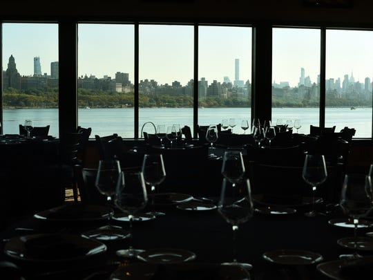 Places in the heart: Mitchell's Fish Market boasts a spectacular view of Manhattan.