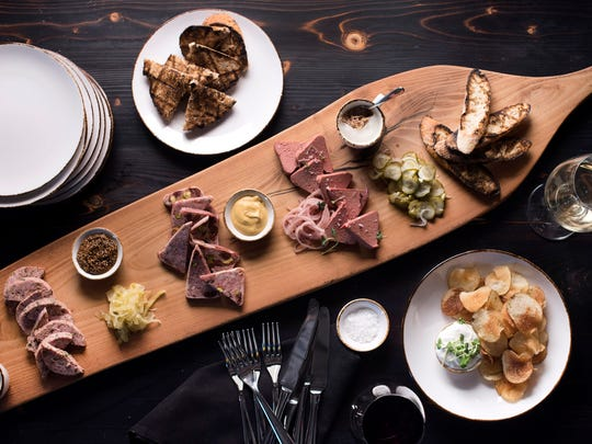 A large charcuterie board will showcase the whole-animal butchery and housemade sausages at The Amsterdam in Rhinebeck.