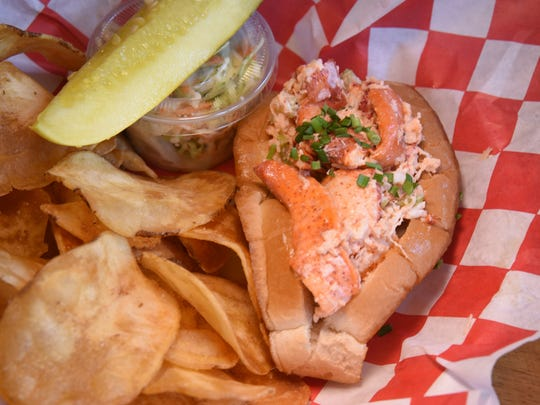 Jack's Lobster Shack on River Rd. in Edgewater.   A Maine lobster roll.  --