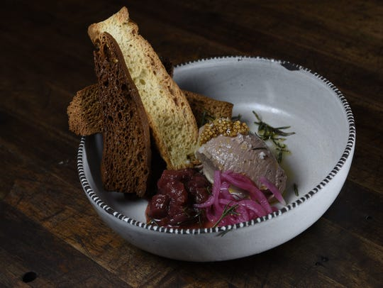 An order of chicken liver mousse at Turtle and the
