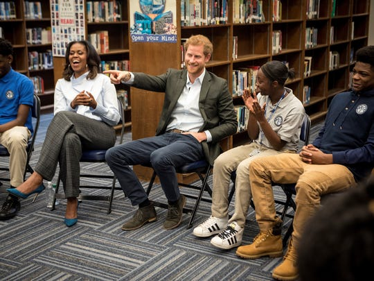 Prince Harry and former first lady Michelle Obama met