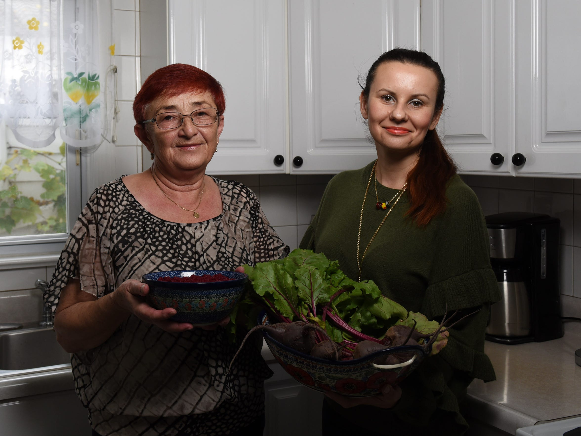 Teresa Piela, a Carlstadt resident from Poland, made Cwikla - a Polish salad or relish with cooked grated beets and grated horseradish.