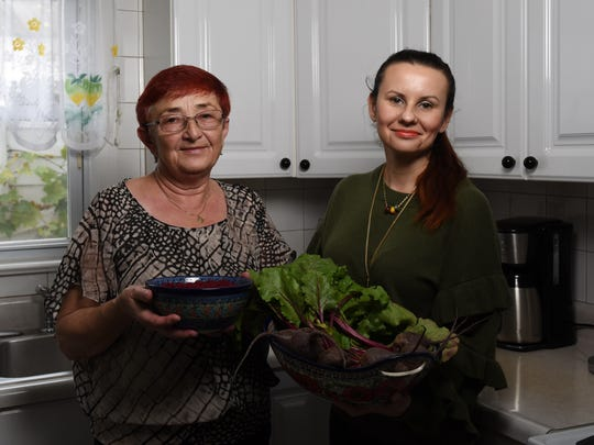 Teresa Piela, a Carlstadt resident from Poland, made Cwikla, a Polish salad or relish with cooked grated beets and grated horseradish. Shown Nov. 7, 2017.