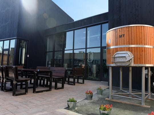 Dogfish Head's new courtyard takes the place of their