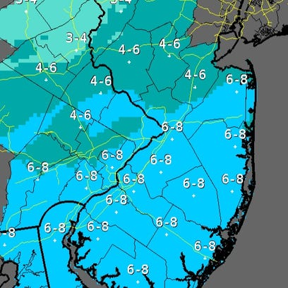 Updated snowfall total map