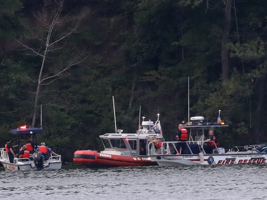 First responders search the east shore of Irondequoit