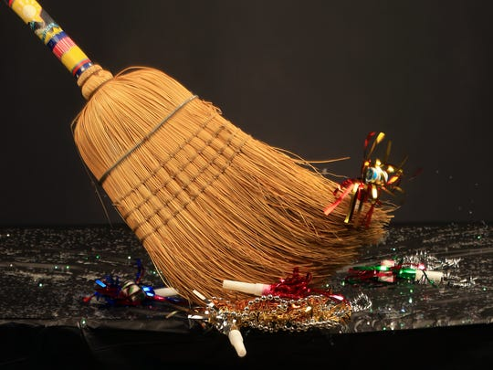 One tradition says you should take a broom to the front door and start sweeping toward the street to banish negativity before the new year.