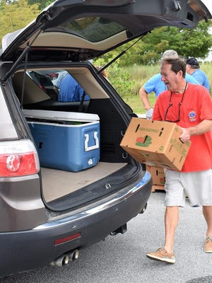 Longtime Richmond Hill resident Tommy Brookshire said 350 boxes were distributed in the city Sept. 18 along with 350 more distributed in Pembroke.