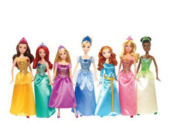 Disney Princess Ultimate Doll Collection includes Belle, Ariel, Rapunzel, Cinderella, Merida, Sleeping Beauty and Tiana.