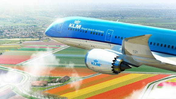This image provided by KLM shows a Boeing 787-9 Dreamliner