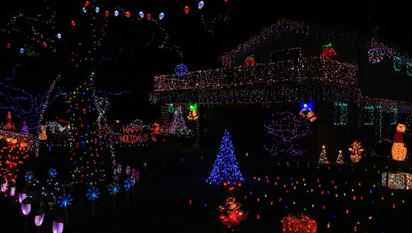 The massive display on Old Farm Road in Toquerville