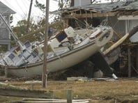 Damaged boats from Hurricane Ivan dotted the Perdido Key area.