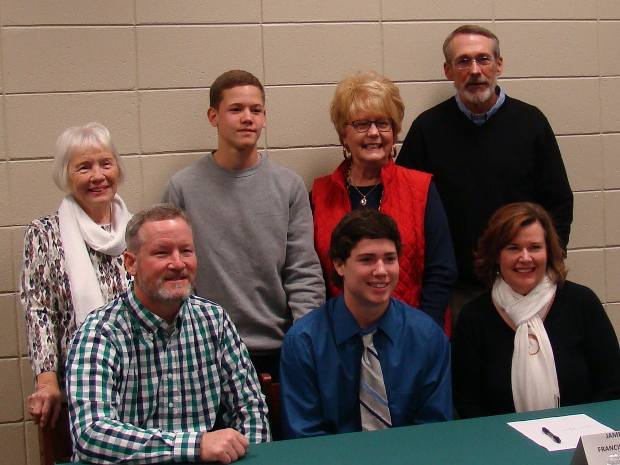 Easley High senior Jameson Spitzmiller signed a National Letter of Intent to continue his baseball career at Frances Marion University.