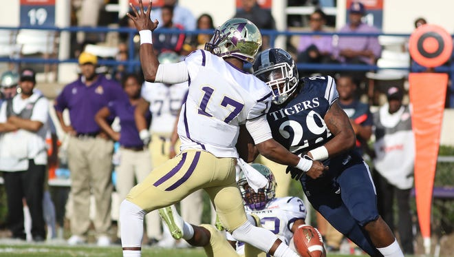 JSU defensive end Javancy Jones (29) was named to the BOXTOROW All-American team on Tuesday.