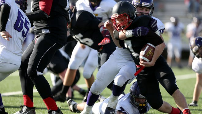 Santiam Christian's Parker Stutzman is the West Valley League offensive player of the year.