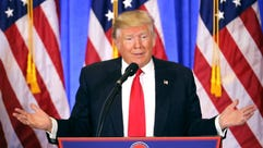 President-elect Donald Trump speaks at his news conference