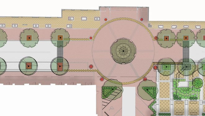 A site plan shows what the Intendencia Street 'woonerf' will look like once it is complete.