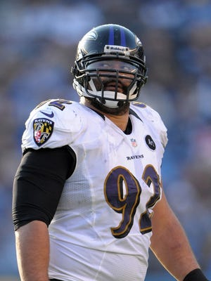 Ravens defensive tackle Haloti Ngata, who was traded to the Lions.