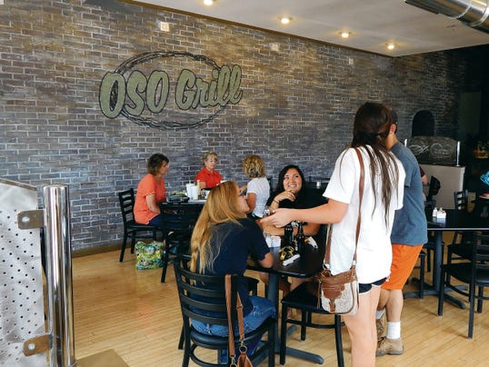 Inside the New Oso Grill.