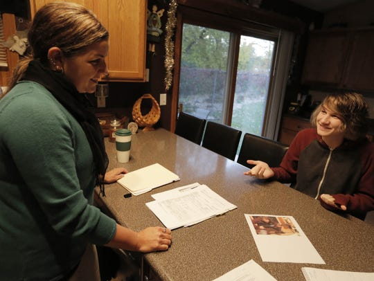 Ronda Schmitt and her son Jacob Olson talk about his