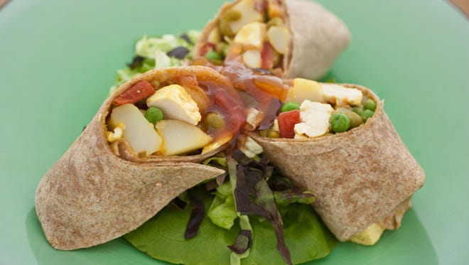 A Samosa wrap at Andyfood in Scottsdale, AZ on Tuesday, June 14, 2011.