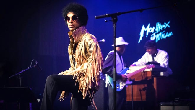 Prince during the 47th Montreux Jazz Festival in Montreux, Switzerland, in July 2013.